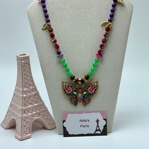 Jewelry - Butterfly Beaded Necklace Handmade 🦋